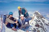 ON TOP OF THE WORLD: Lincoln Mountaineering Club have produced a book to celebrate 50 years of adventures. Pictured are members from the 1970s at the Matterhorn Summit on the border of Switzerland and Italy