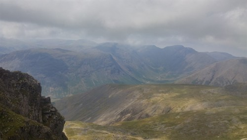 2018 13 Looking towards Mosedale from Scafell Crag